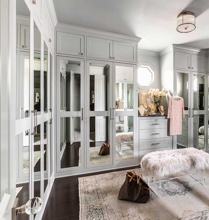 Custom Cabinetry Walk In Closet #closet #storage #decorhomeideas