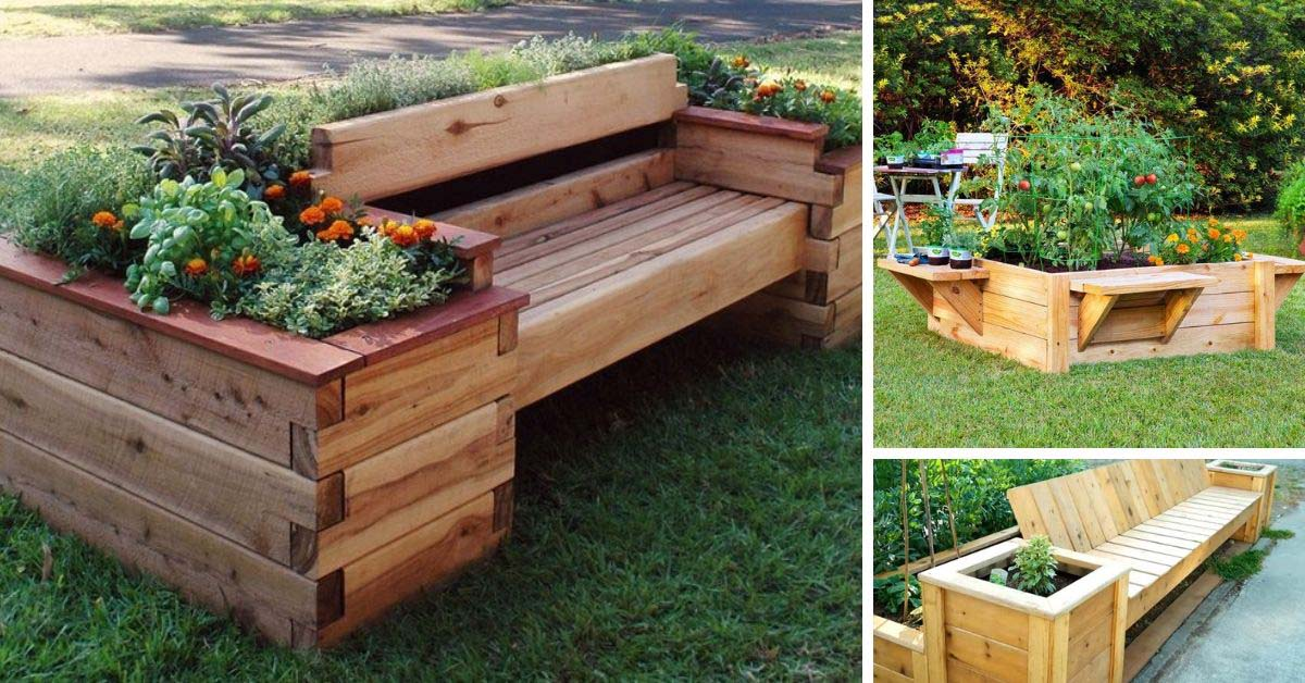 DIY Raised Garden Bed With Bench