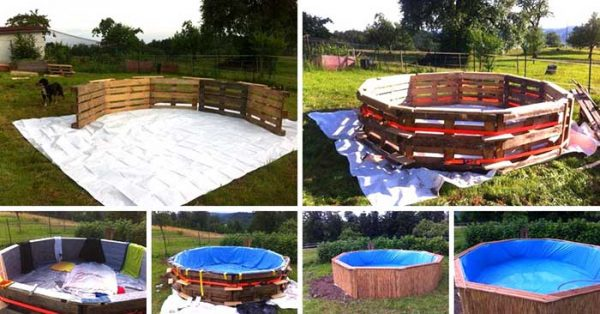 How To Make Pool Out Of Pallets Steps