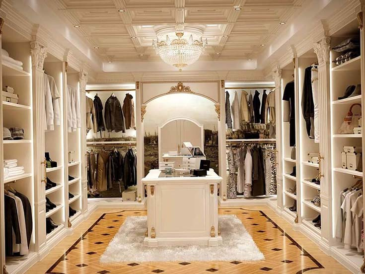 Luxury Styled Walk In Closet #closet #storage #decorhomeideas