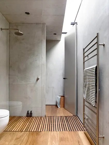 Minimalist Bathroom With Teak Accessories #bathroom #teak #decorhomeideas