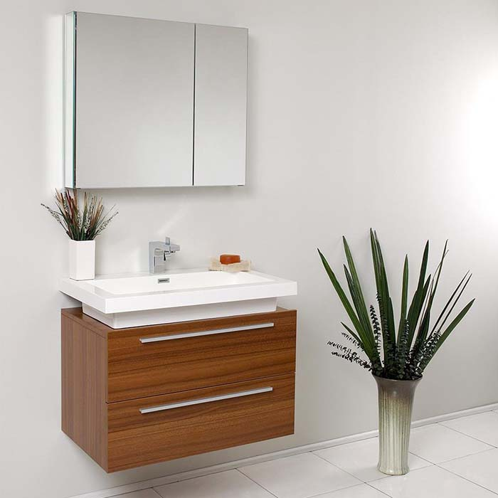 Modern Teak Bathroom Vanity