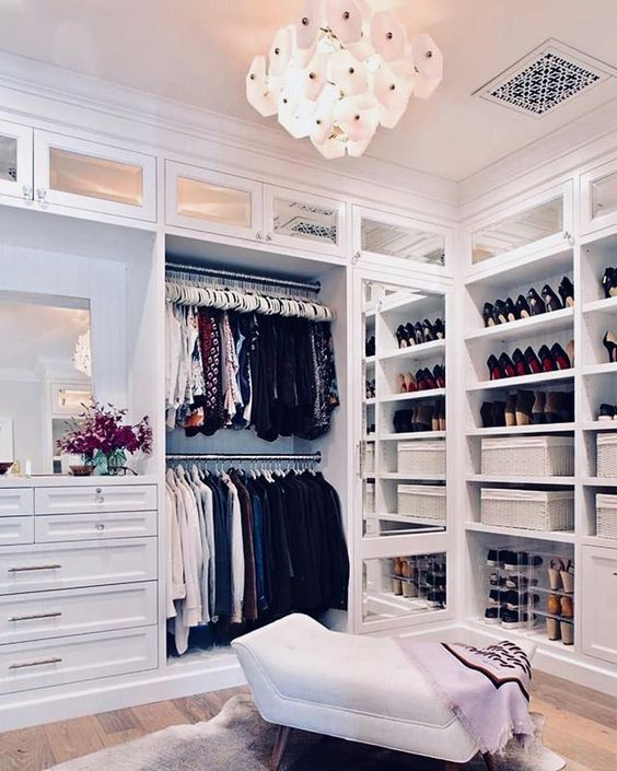 Multi Shelves Walk In Closet #closet #storage #decorhomeideas