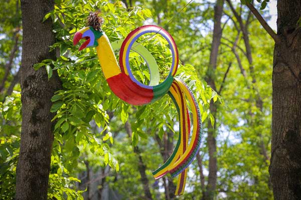 Parrot Garden Decor From Old Tire #garden #oldtires #decorhomeideas