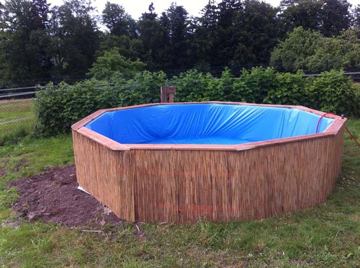 Swimming Pool Made Out Of Pallets Step 5