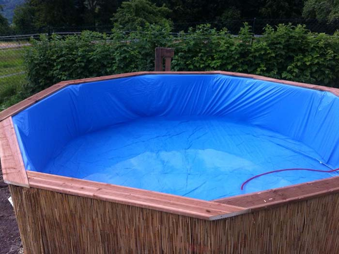Swimming Pool Made Out Of Pallets Step 6