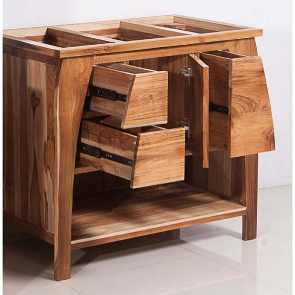 Bathroom Teak Vanity #bathroom #teak #decorhomeideas