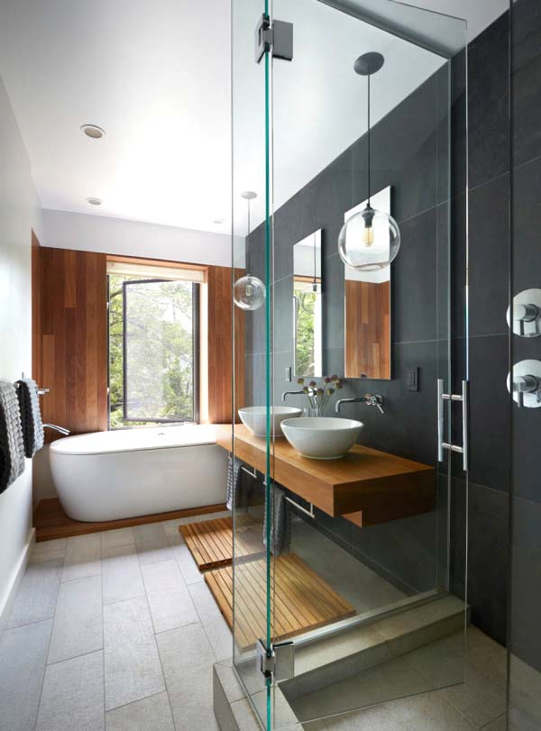 Teak Bathroom With Modern Design #bathroom #teak #decorhomeideas