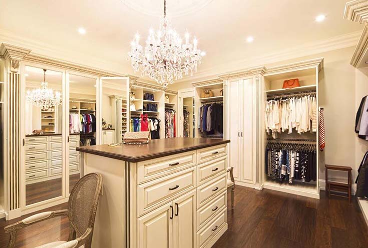 Traditional Design Walk In Closet #closet #storage #decorhomeideas