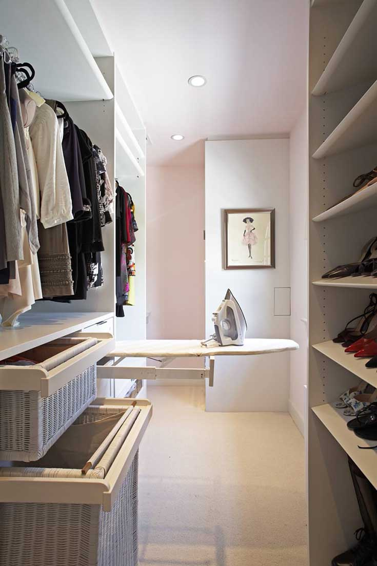 Walk In Closet With Ironing Board #closet #storage #decorhomeideas