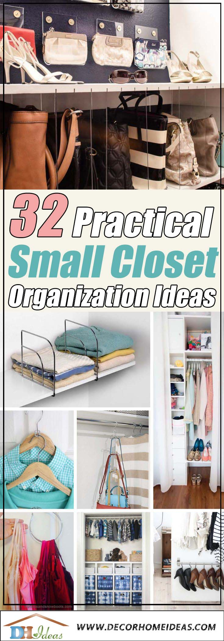 24 Ways To Squeeze More Space Out of a Small Closet  Decor Home Ideas