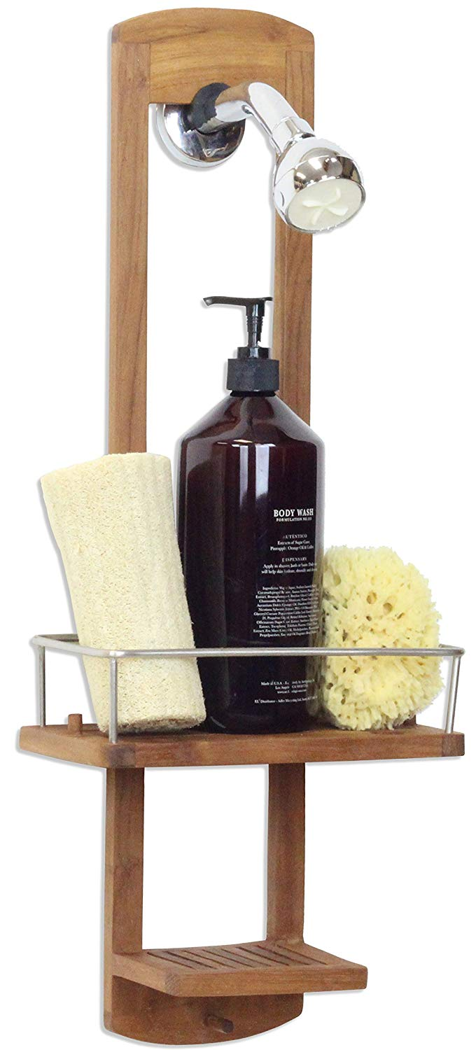 Bathroom Teak Shower Caddy