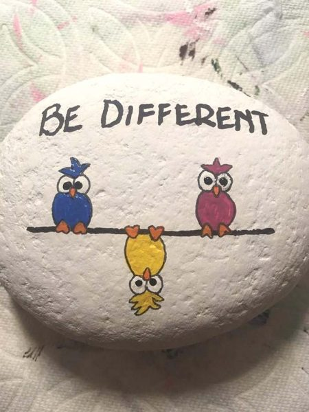 Be Different Painted Rock