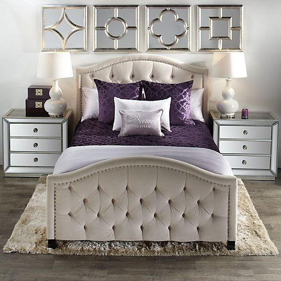 Bedroom In Silver and Purple #bedroom #silver #decorhomeideas