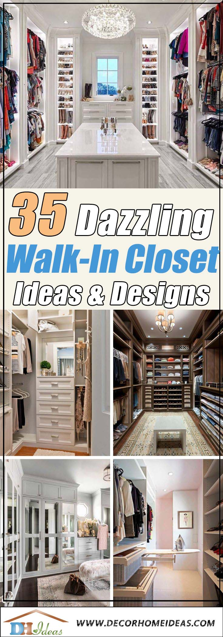 Best Walk-In Closet Ideas and Designs #closet #storage #decorhomeideas