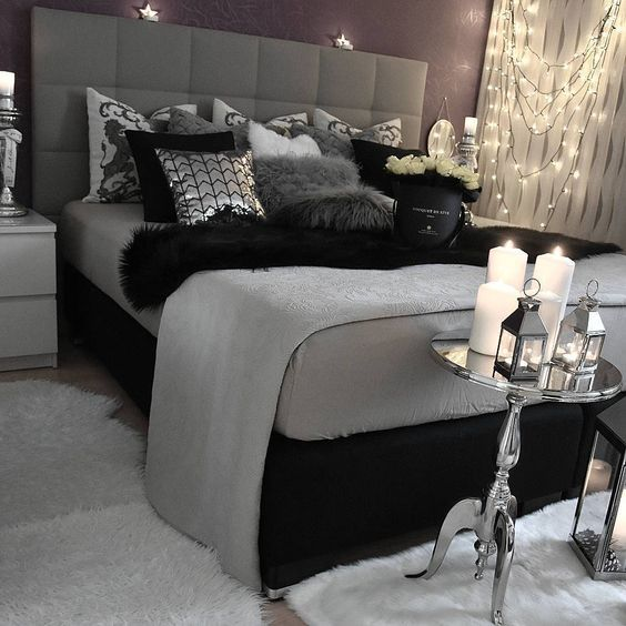 Black and Silver Bedroom #bedroom #silver #decorhomeideas