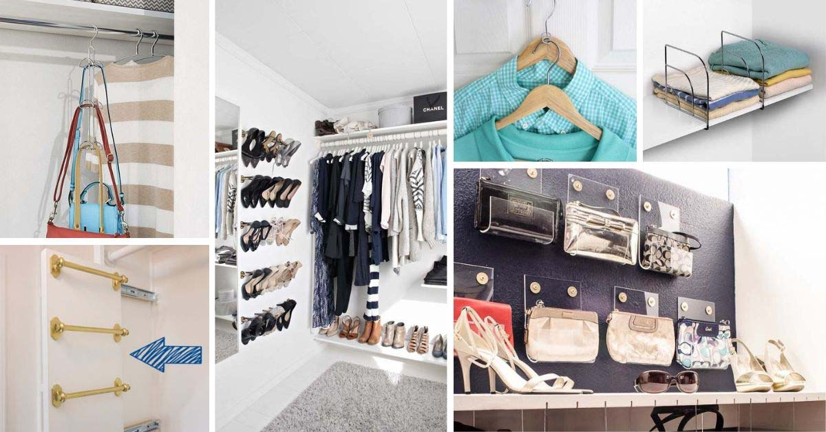 Closet Organization Ideas and Hacks. Tips and tricks to squeeze more storage space out of a small closet