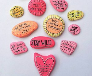 Colorful Quotes Painted Rocks