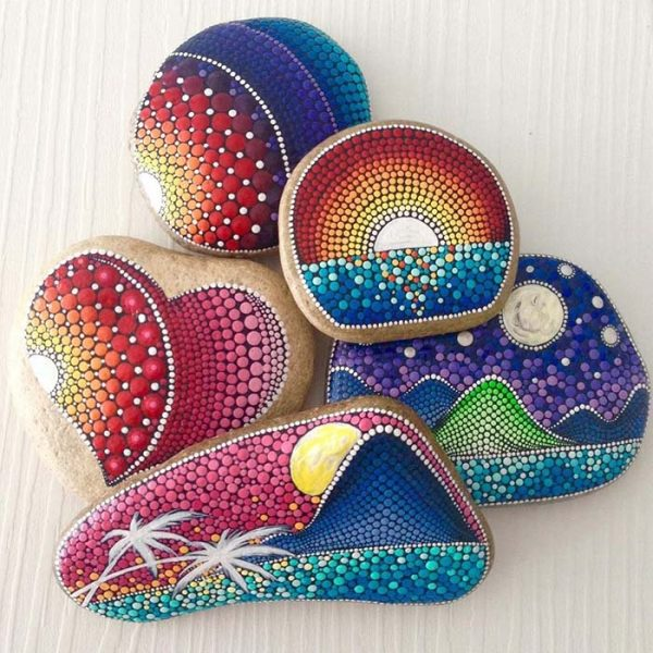 Creative Design Painted Rocks