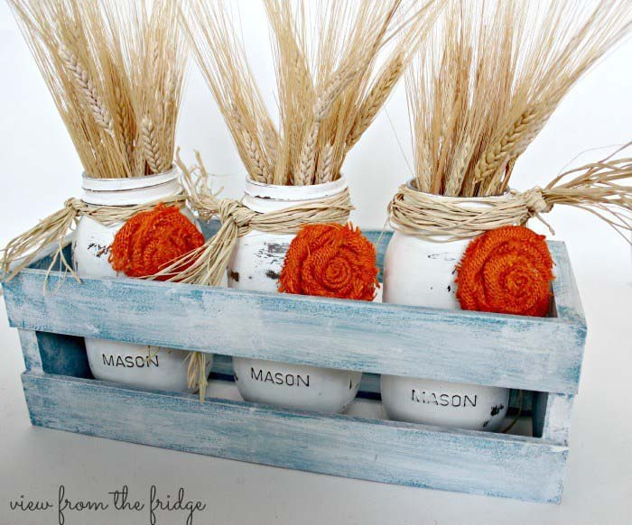 Easy Fall Decor Mason Jar Centerpiece #falldecor #masonjar #decorhomeideas