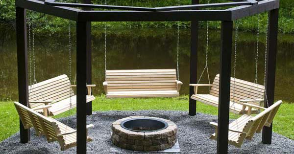 Fire Pit Swing Step by Step Instructions and Tutorial How To Build It