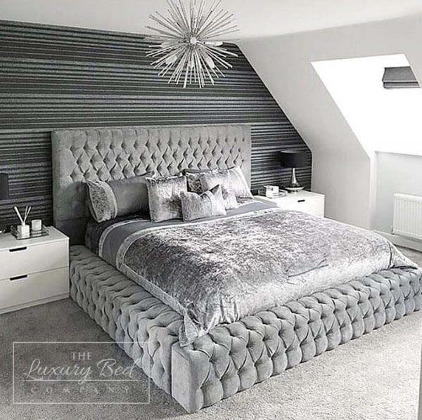 Gorgeous Silver Bedroom #bedroom #silver #decorhomeideas