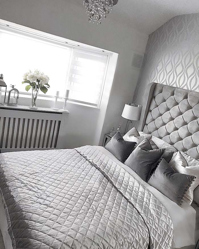 Grey Silver Bedroom  #bedroom #silver #decorhomeideas
