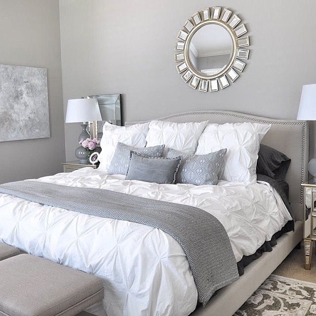 Grey and Silver Bedroom Ideas #bedroom #silver #decorhomeideas