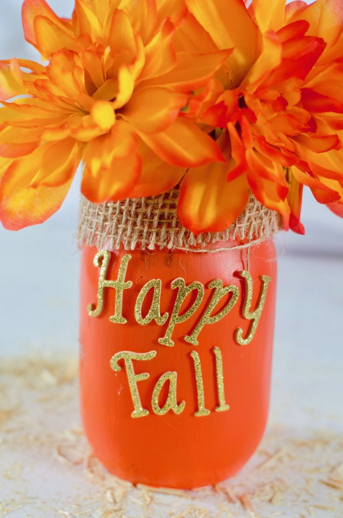 Happy Fall Decor Mason Jar Crafts #falldecor #masonjar #decorhomeideas