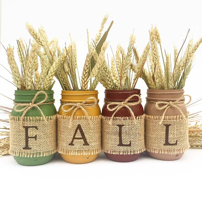 Harvest Fall Decor Mason Jar Centerpiece #falldecor #masonjar #decorhomeideas