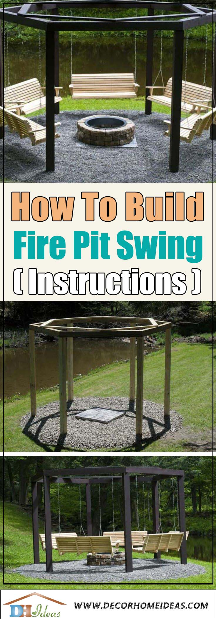How To Build Fire Pit Swing #firepit #diy #decorhomeideas