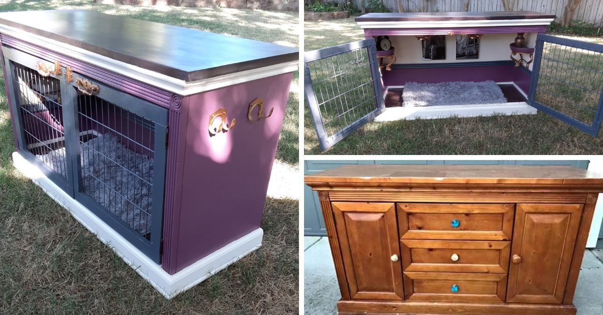 Diy Dog Bed From An Old Tv Console Decor Home Ideas