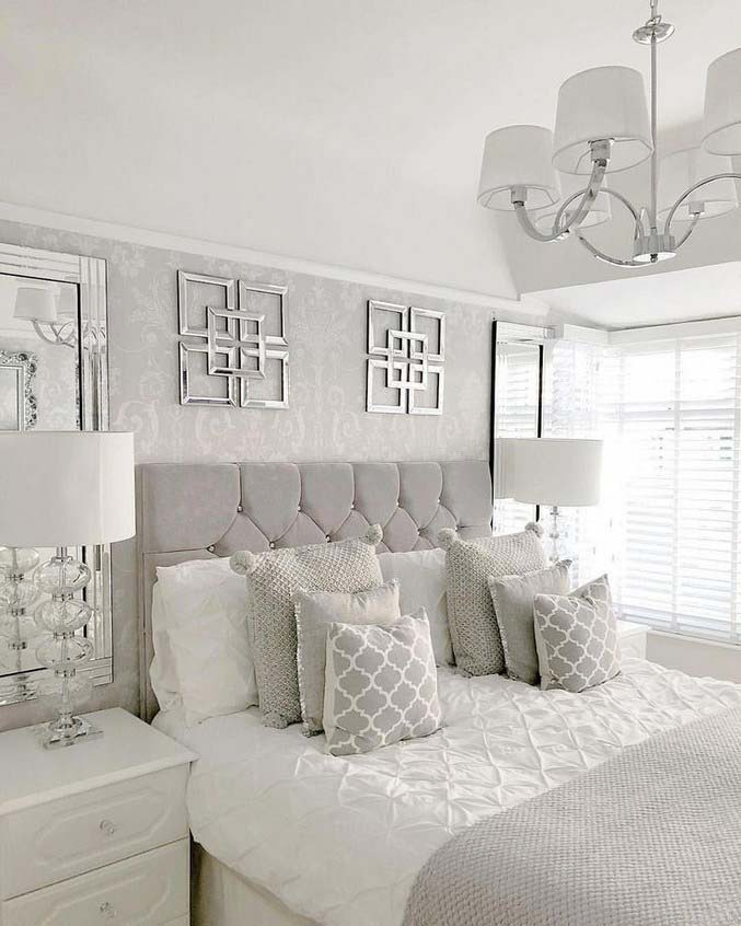 Luxury Silver and Grey Bedroom #bedroom #silver #decorhomeideas