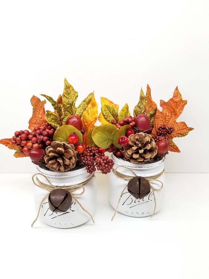 Mason Jar Fall Tray Decor #falldecor #masonjar #decorhomeideas
