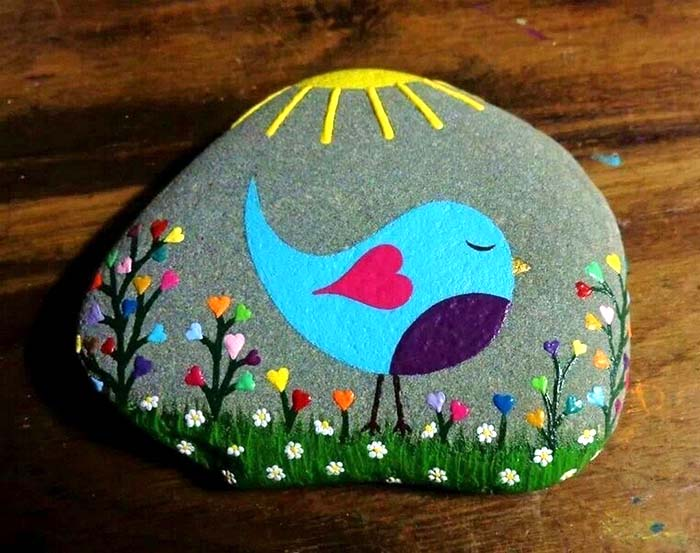 Nature Inspired Painted Rocks