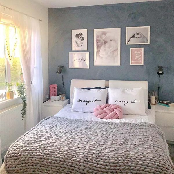 Pink and Silver Bedroom #bedroom #silver #decorhomeideas