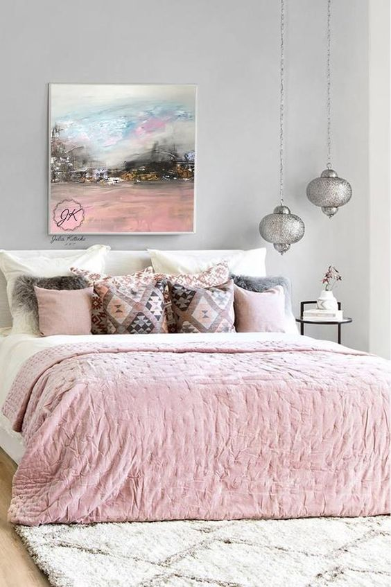 Pink and Silver Bedroom Design #bedroom #silver #decorhomeideas