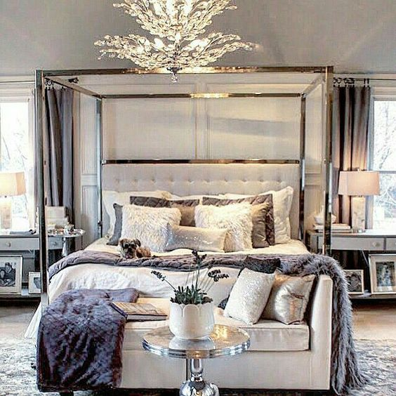 Silver and Gold Bedroom #bedroom #silver #decorhomeideas