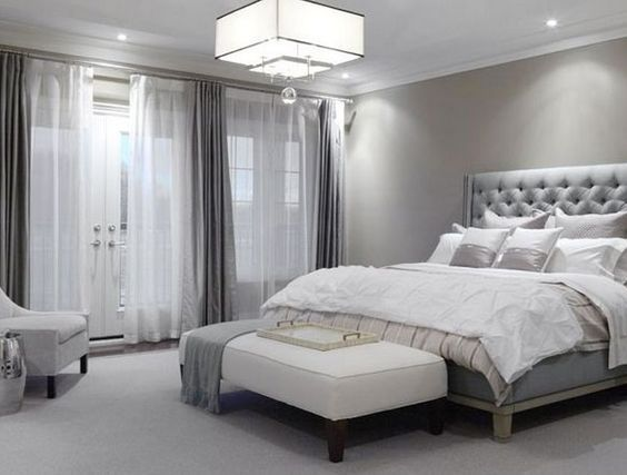 Silver and Grey Bedroom #bedroom #silver #decorhomeideas