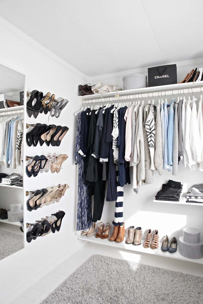 Stack Shoes On The Wall #closet #organization #decorhomeideas