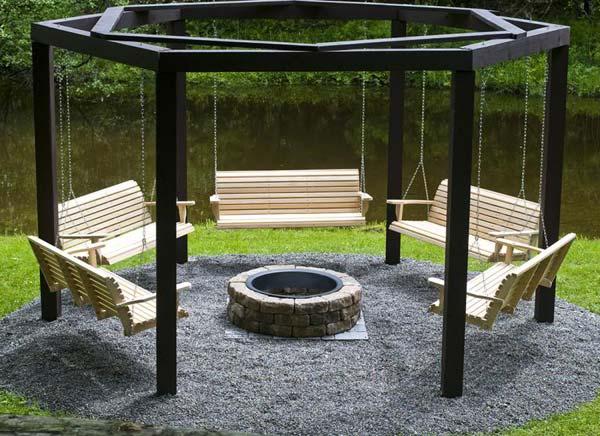 Fire Pit Swing