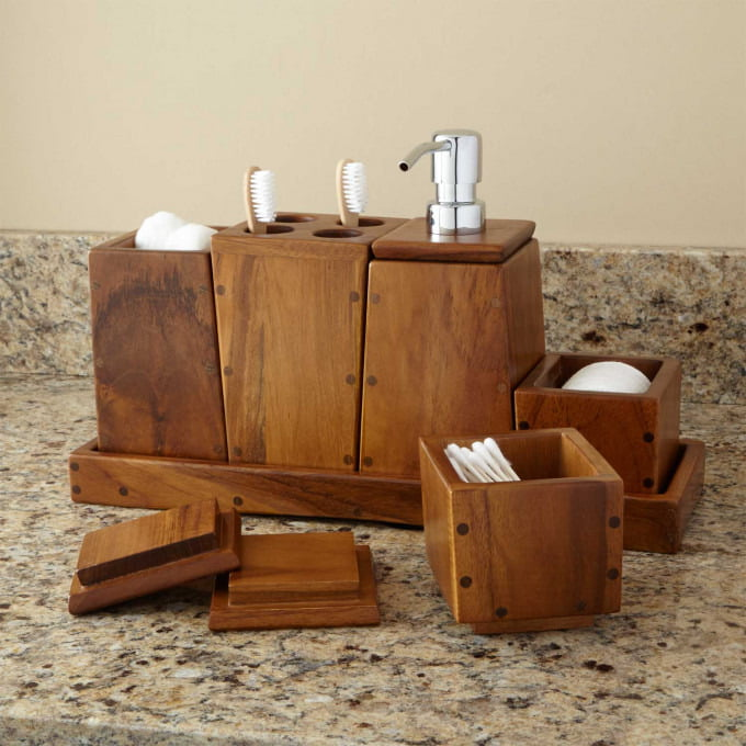 Teak Bathroom Accessories