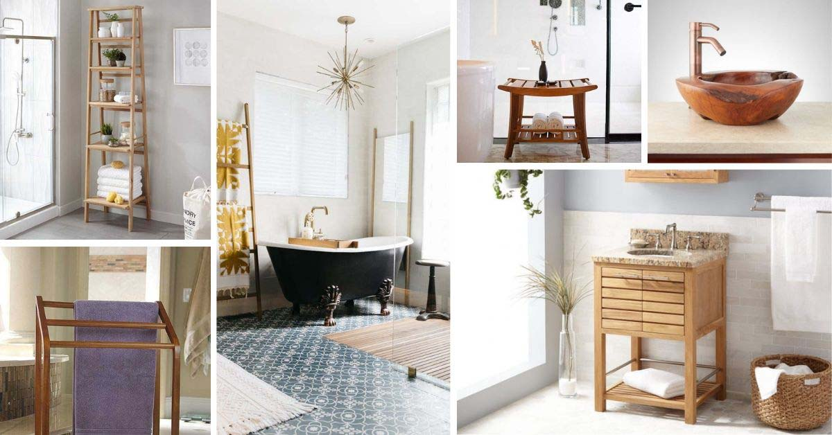 Best ways to spruce up your bathroom with teak