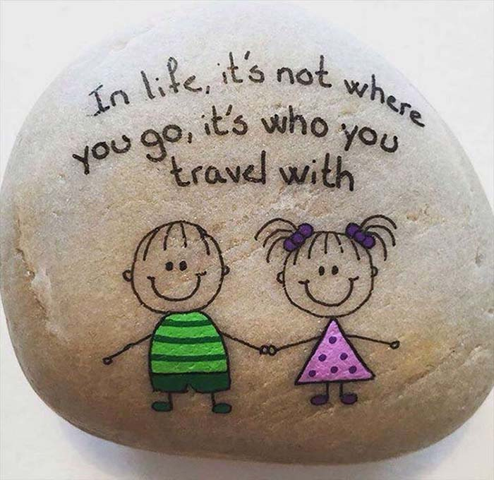 Top Painted Rock Art Ideas with Quotes