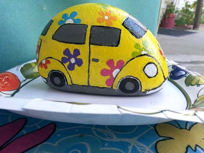 VW Painted Rock