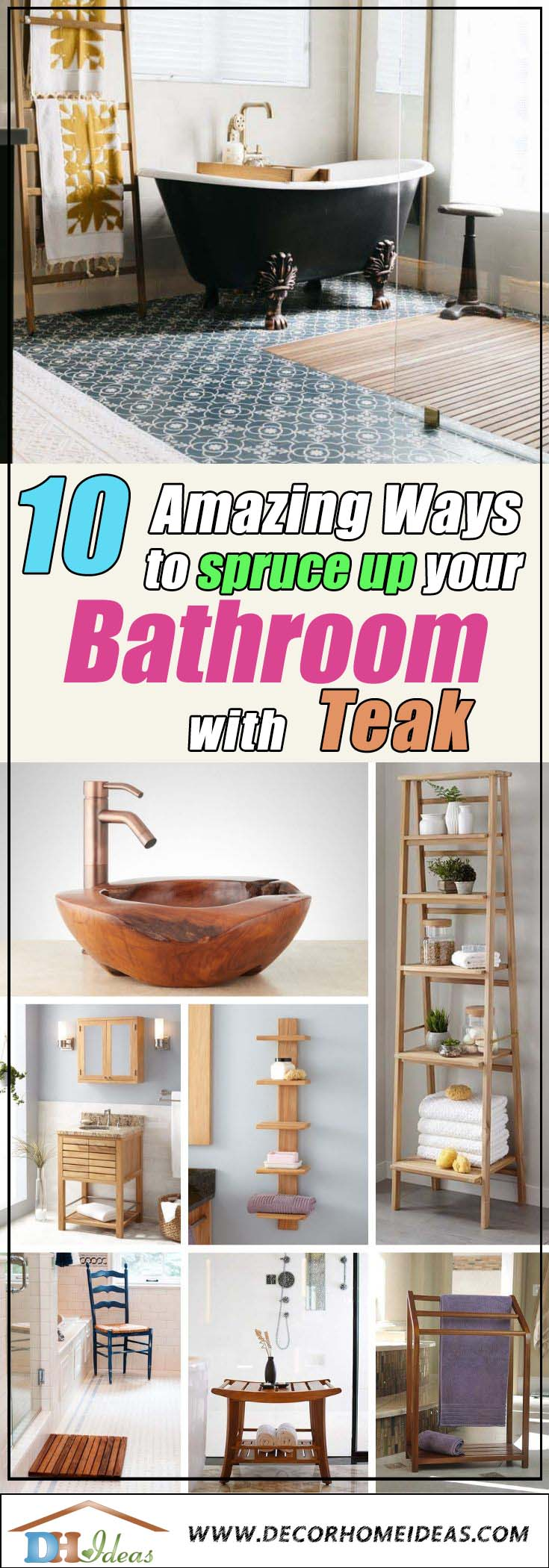 Ways To Spruce Your Teak Bathroom #bathroom #teak #decorhomeideas