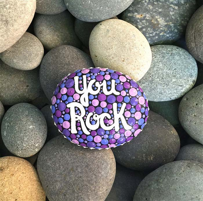 You Rock Painted Stone
