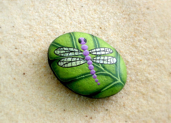 Dragonfly Painted Rock