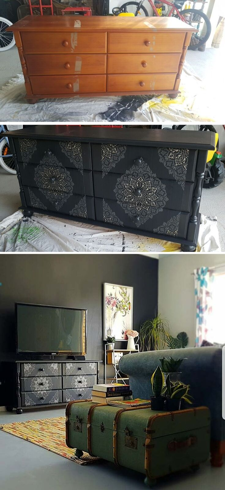 Dresser Makeover Wallpaper