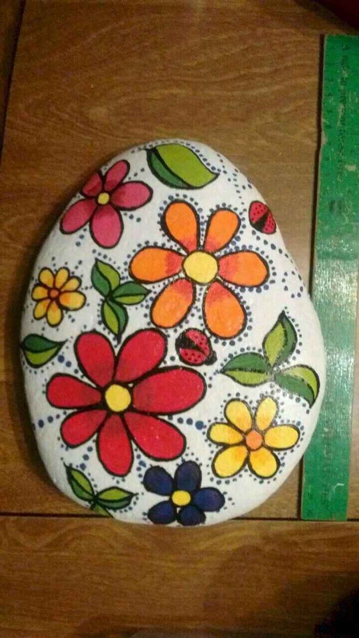 Flower Rock Painting Ideas